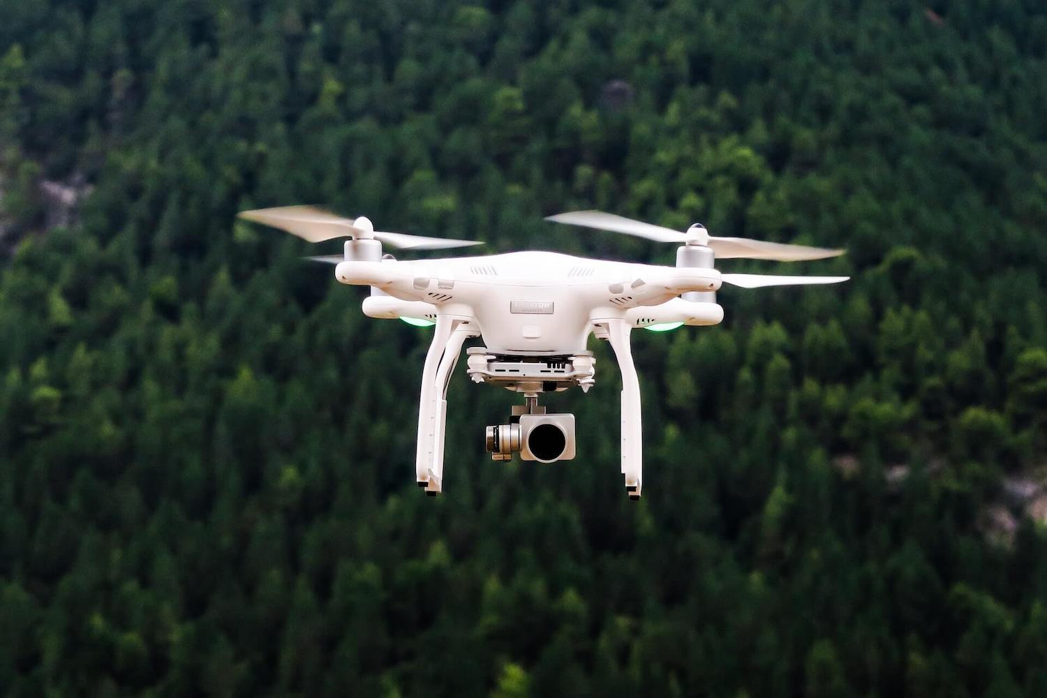 drone with Perfectly Clear AI Video Enhancer