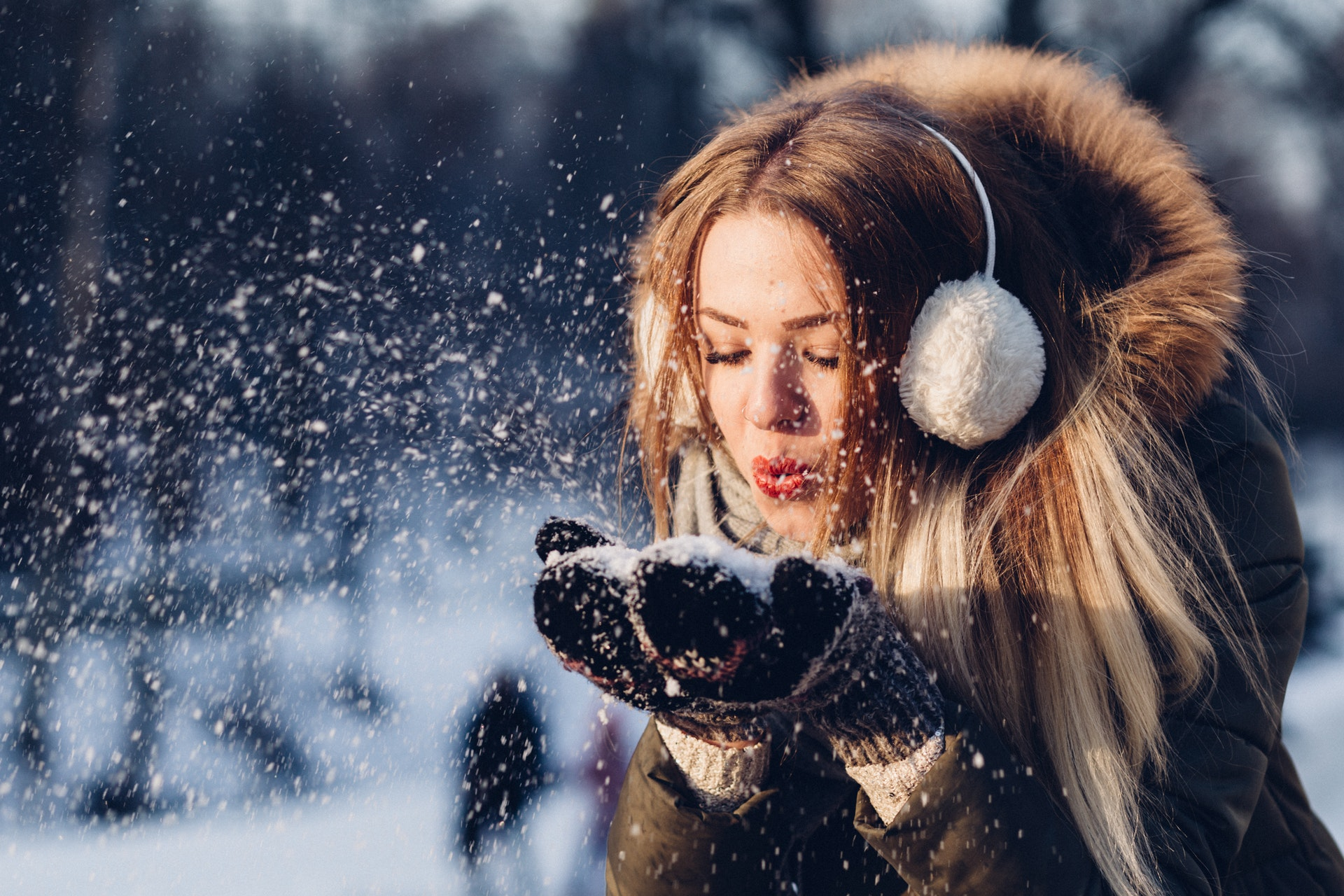 girl in winter photography portrait