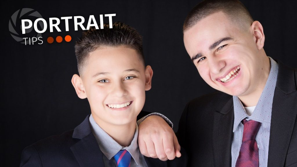 portrait tips and photo of two young men