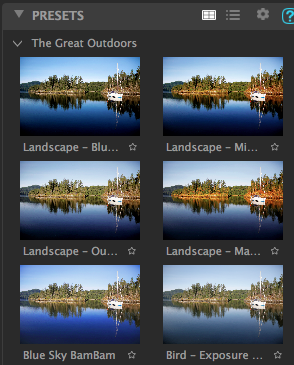 examples of photo with different filters